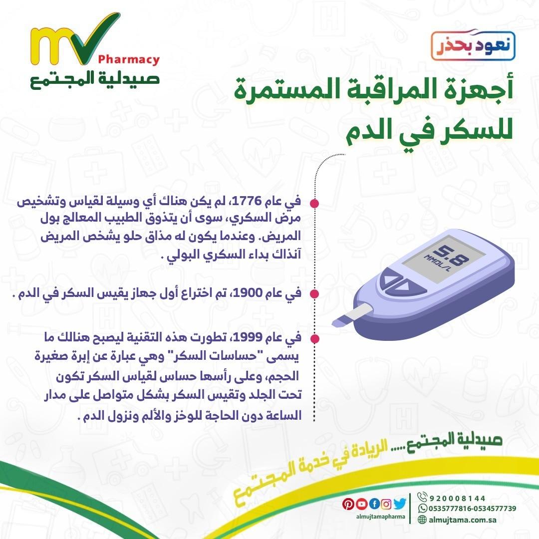 أجهزة المراقبة المستمرة للسكر في الدم