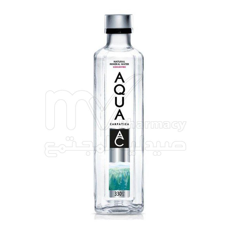 مياه اكوا 330 مل زجاج