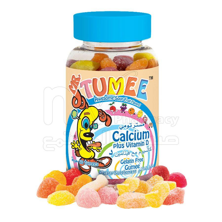 مستر تومي كالسيوم مع فيتامين D  ، أقراص مضغ ، 60 حبة
