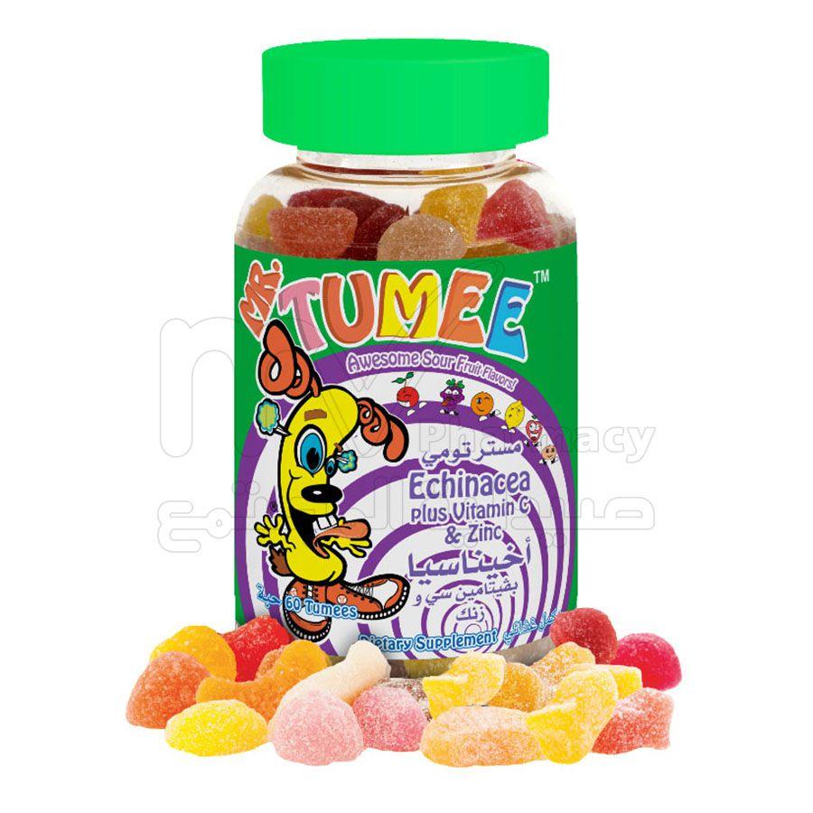 مستر تومي اشناسيا + فيتامين سي + زينك ، اقراض مضغ ، 60 حبة