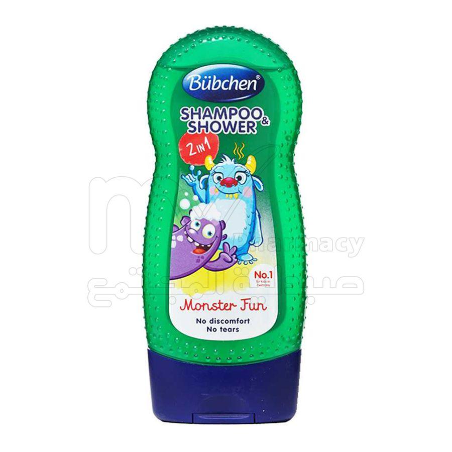 بوبشن ، شامبو وسائل استحمام للأطفال ، مونستر فن ، 230 مللي