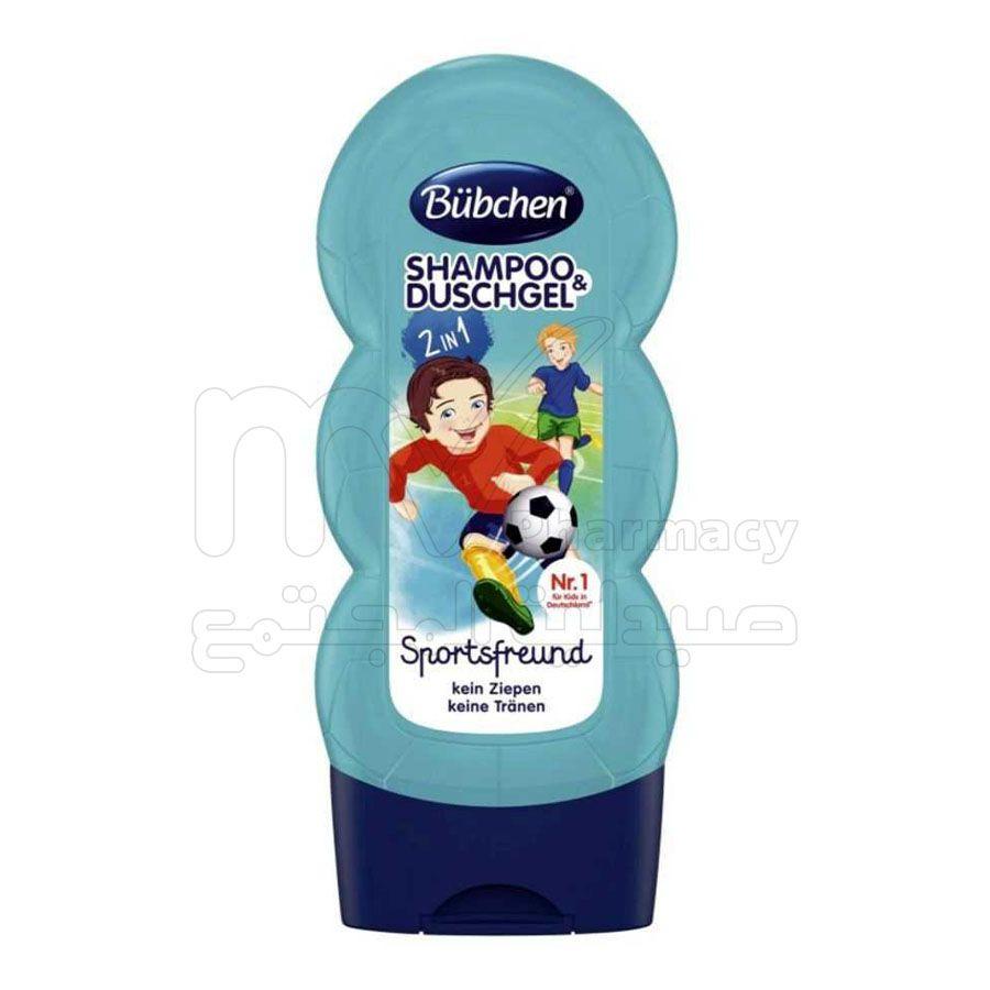 بوبشن ، شامبو وسائل استحمام للأطفال ، صديق الرياضة ، 230 مللي