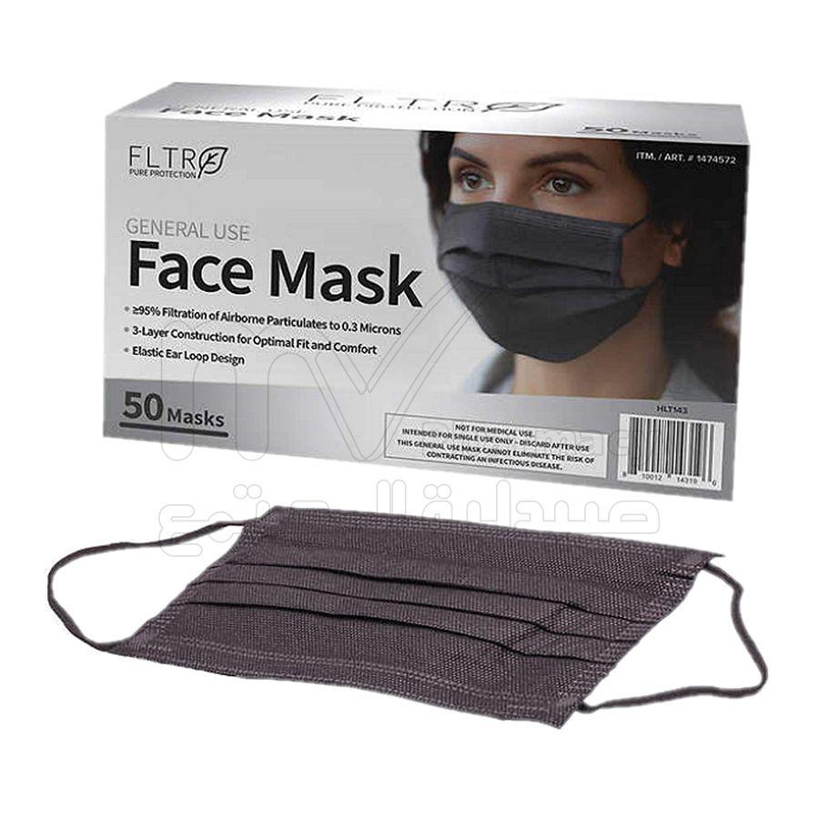 فلتر ماسك واقي الوجه أسود