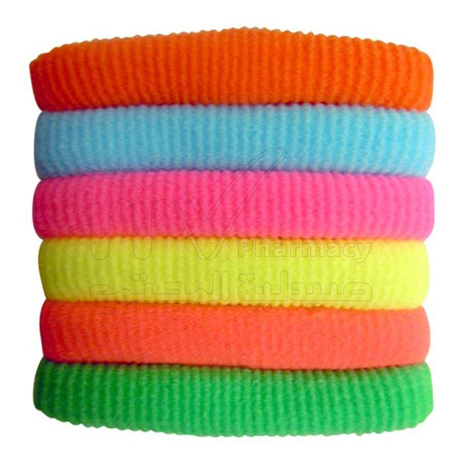 ربطات الشعر ليكرا الملونة - او