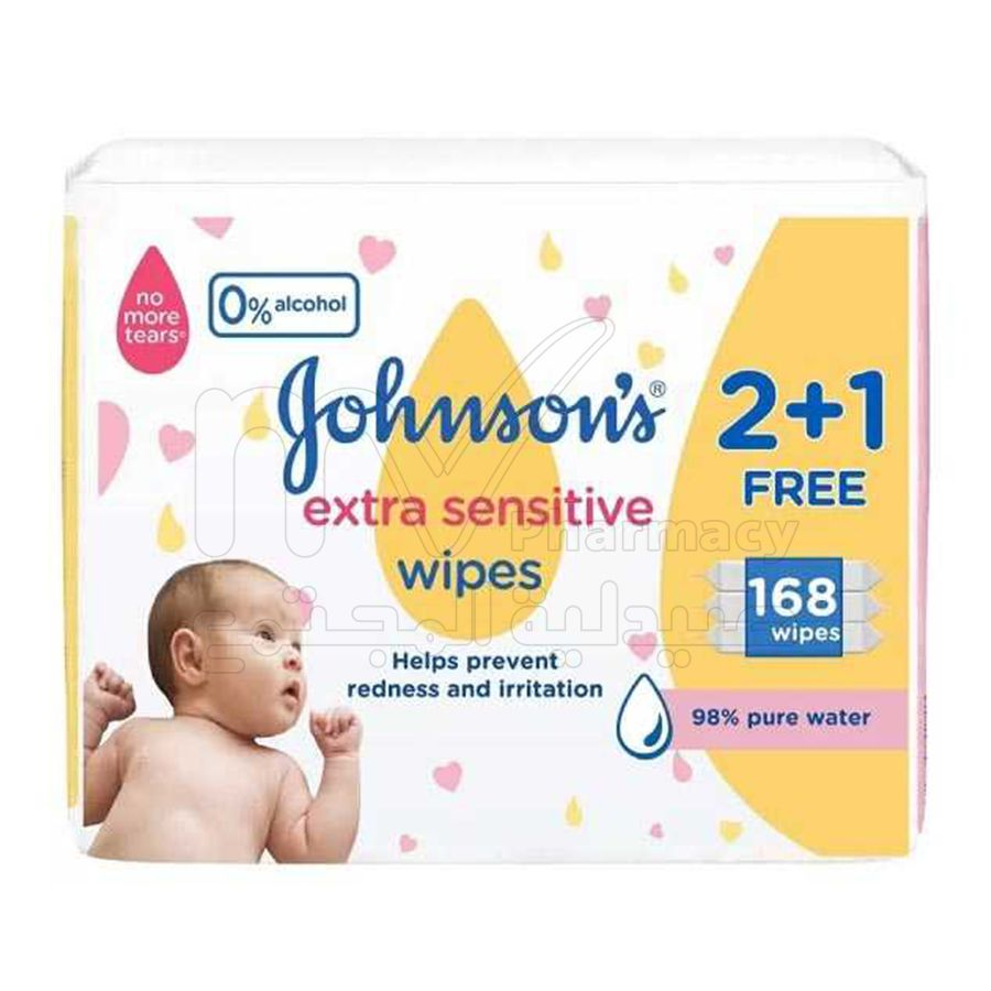 جونسون مناديل حساسة للغاية 1+2