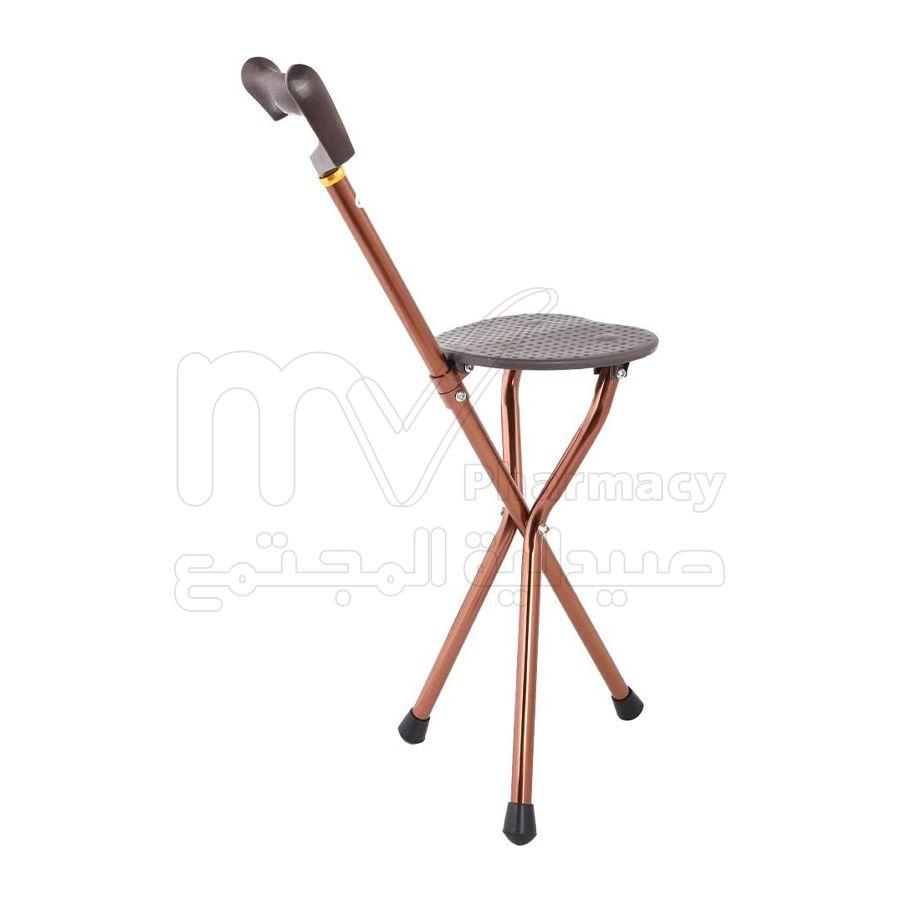 عكاز المونيوم+كرسي