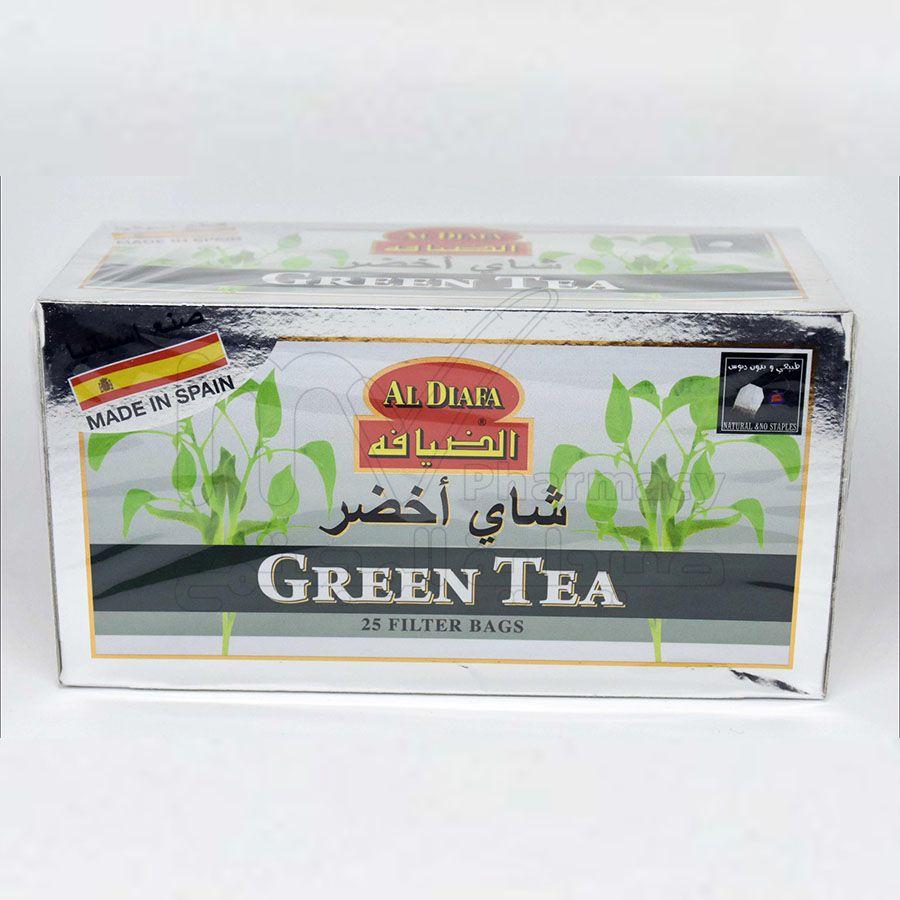 الضيافه مع شاي اخضر+نعناع